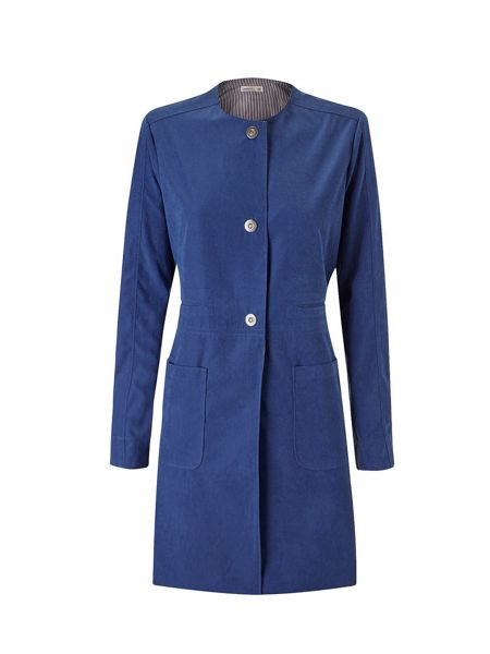 Lavand Collarless Coat