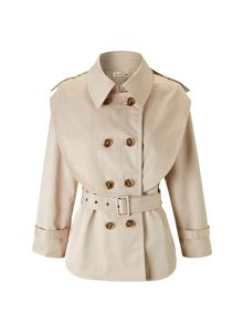 Lavand Cropped Trench Jacket