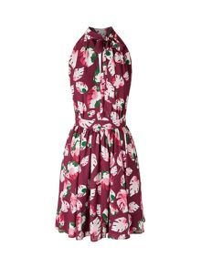 Lavand Leaf Print Dress