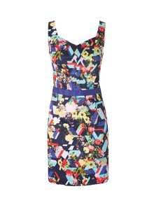 Lavand Cotton Slim Floral Dress