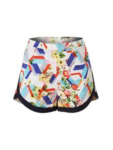 Lavand Cotton Floral Shorts