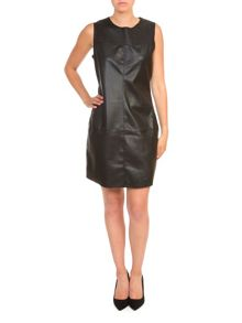 Lavand Faux Leather Dress