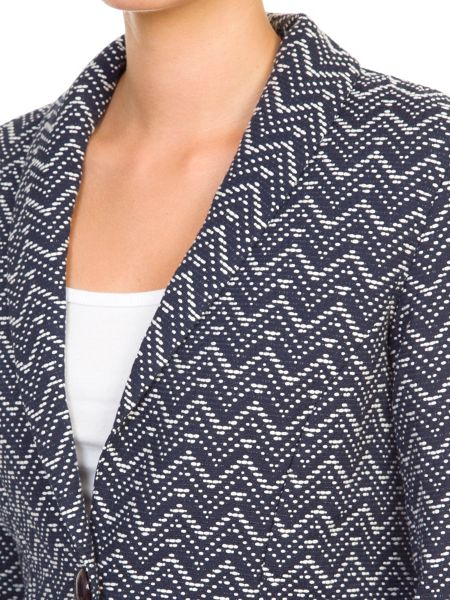 Lavand Printed Cotton Blend Blazer