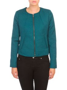 Lavand Textured Collarless Jacket