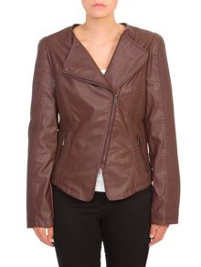 Lavand Faux Leather Biker Jacket