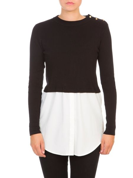 Lavand Overlay Cropped Jumper