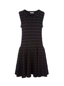 Lavand Drop Waist Knitted Dress