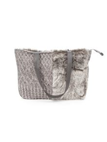 Lavand Faux Fur Tote Bag