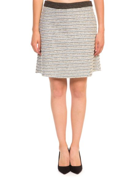 Lavand Textured A-line Skirt