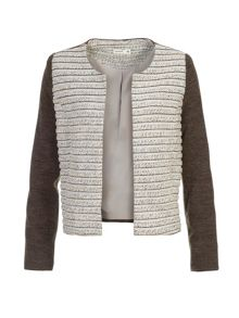 Lavand Collarless Textured Jacket