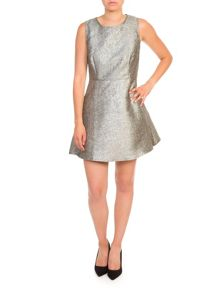 Lavand Metallic Skater Dress