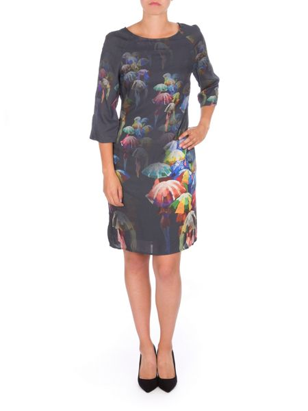 Lavand Umbrella Print Dress