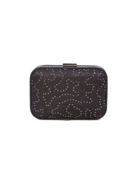 Lavand Embellished Box Clutch