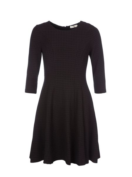 Lavand Textured Skater Dress