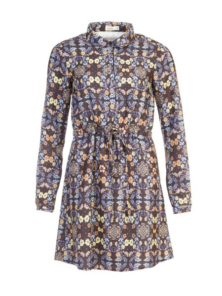 Lavand Printed Shirt Dress