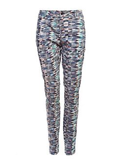 Printed Cotton Trousers