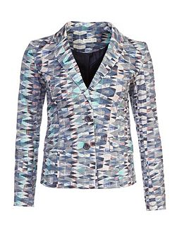 Printed Cotton Blazer