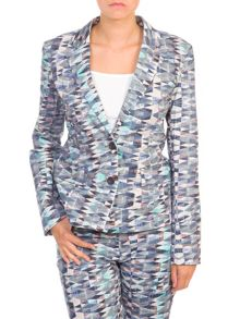 Lavand Printed Cotton Blazer