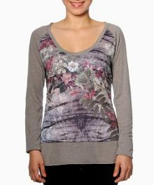 Rena long sleeve printed t-shirt