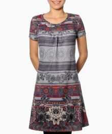 Popoluca short sleeve printed dress