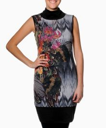 Zenobia sleeveless printed dress