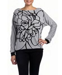 Volcae basic printed sweater