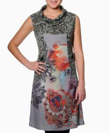 Rafaela sleeveless printed dress