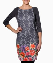 Supay three quarter sleeve printed dress