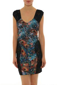 Smash Oval Tight sleeveless  printed dress