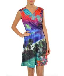 CAMPA Cut waist printed dress