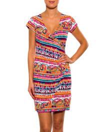 AVELINA Crossover dress with side pleats