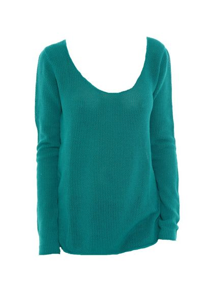 Smash Lis Knitted sweater with chiffon detail