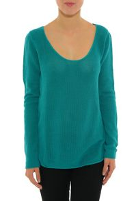 Lis Knitted sweater with chiffon detail