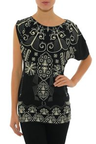 Smash Bugal Asymmetrical sleeves tunic