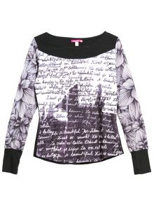 Elan long sleeve printed t-shirt