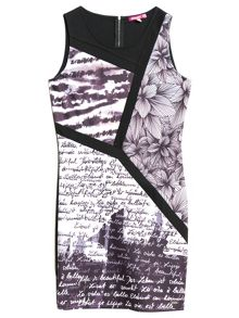 Eldritch sleeveless printed dress