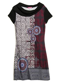 Indiana short sleeve printed dress