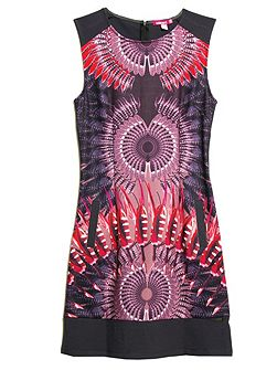 Tara sleeveless printed dress