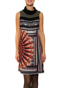Smash Luna sleeveless a-lined printed dress