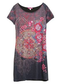 Vera short sleeve printed dress