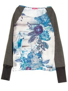 Tilly long sleeve printed t-shirt