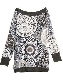 Milksop long sleeve printed tunic