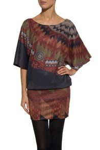 Milla short sleeve wide tunic