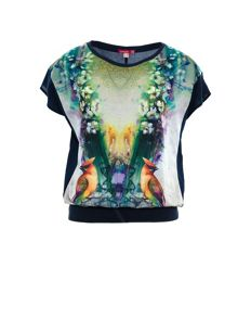 Smash Manon wide short sleeve printed t-shirt