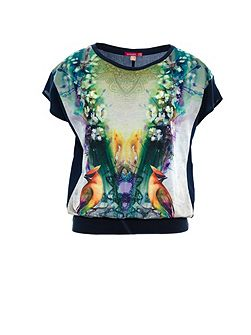Manon wide short sleeve printed t-shirt