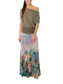 Smash Kobako maxi printed skirt