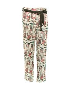 Smash Odila straight leg printed trousers