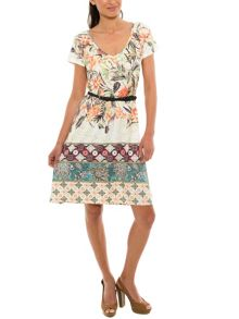 Smash Amatista a line printed dress