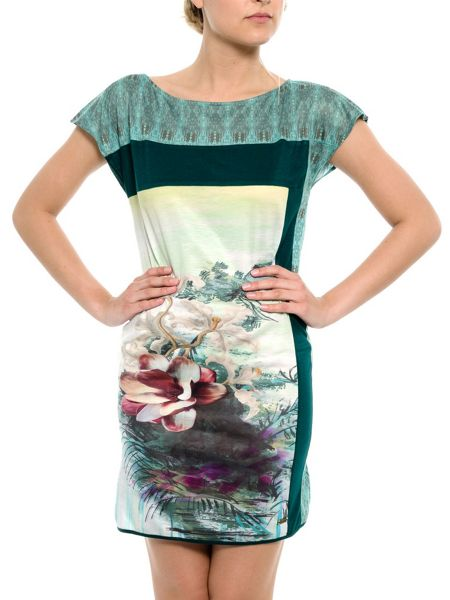 Smash Solan shift printed dress