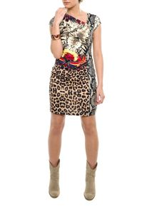 Smash Amazona tailored printed dress